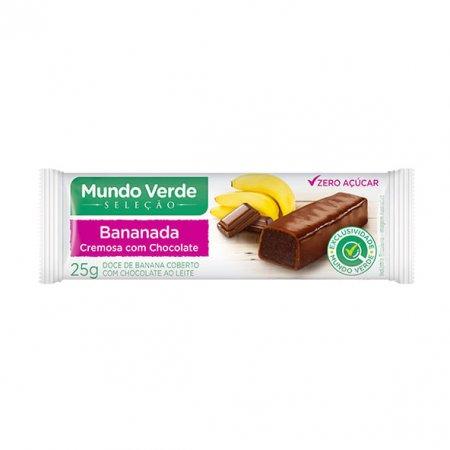 Bananada Cremosa Mundo Verde Seleção com Chocolate 25g