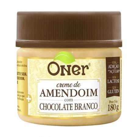Doce fit Oner de amendoim com chocolate branco 180g
