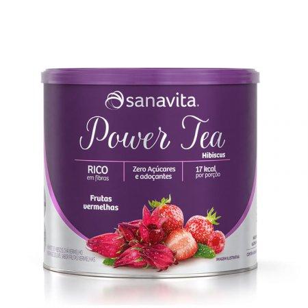 Power Tea Hibiscus Sanavita Frutas Vermelhas 200g