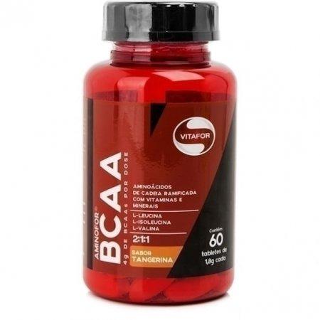 Aminofor BCAA Vitafor sabor Tangerina 60 Tabletes