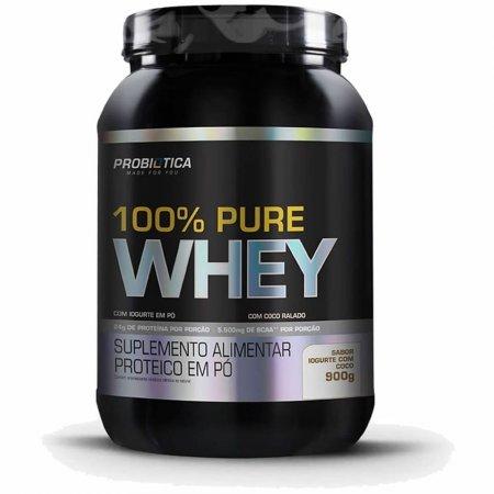 100% PURE WHEY IOGURTE COM COCO 900G Probiótica