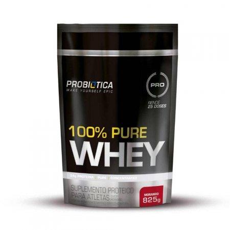 100% PURE WHEY MORANGO REFIL 825G Probiótica