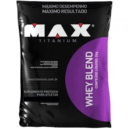 WHEY BLEND MORANGO 2KG MAX TITANIUM