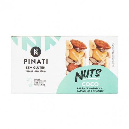 Barra Pinati de Amendoim Castanhas e Semente Coco 30g x 2