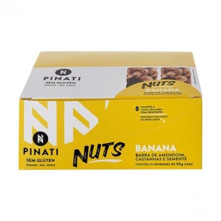 Barra de Amendoim Castanhas Semente Pinati Banana 30g x 12
