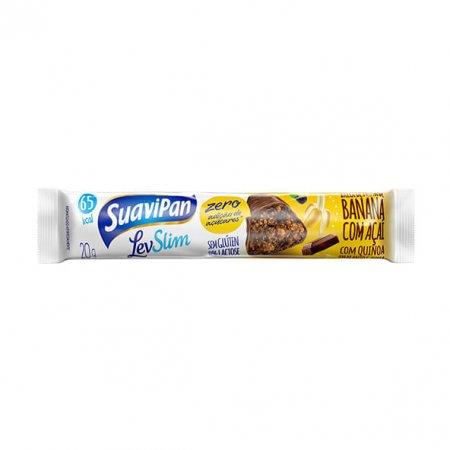 Barra banana, açaí e chocolate Suavipan 20g