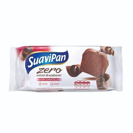 Bolo Zero Adição de Açucares Suavipan Chocolate 250g