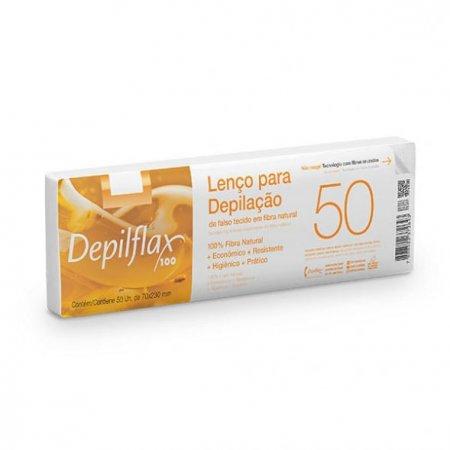 Lenço Para Depilação Com 50 Unid Depilflax