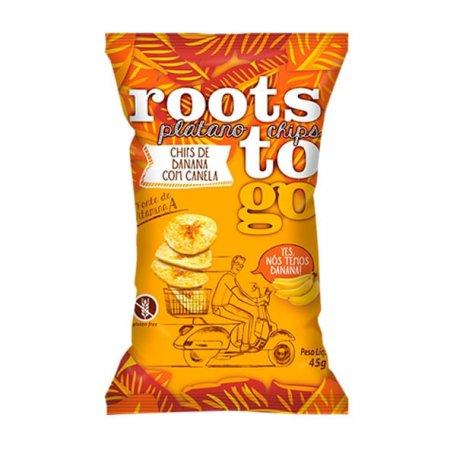 Banana Chips com Canela Roots To Go 45g