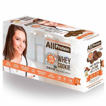 1 Caixa de Whey Cookie de Cacau All Protein 8 unidades de 40g 320g