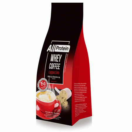 Whey Coffee Cappuccino All Protein 300g (1 pacote de 12 doses)