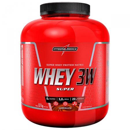 Whey Protein Super 3W Chocolate Integralmédica Pote - 1,8 kg