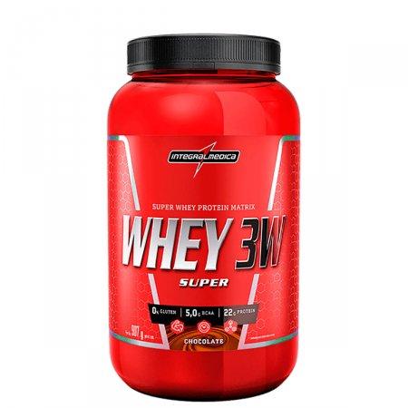 Whey Protein Super 3W Chocolate Integralmédica Pote - 907g