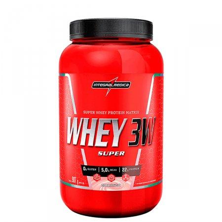 Whey Protein Super 3W Morango Integralmédica Pote - 907g