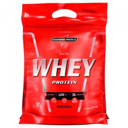 Whey Protein Nutri Morango IntegralMédica Refil - 907g