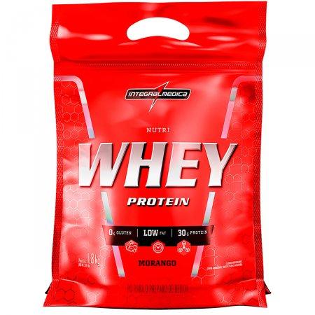 Whey Protein Nutri Morango IntegralMédica Refil - 1.8 Kg