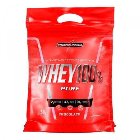 Whey Protein 100% Pure Chocolate IntegralMédica Refil - 907g