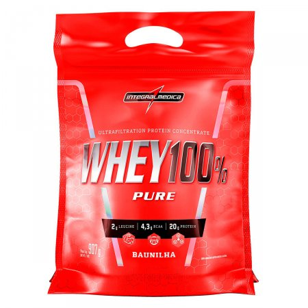 Whey Protein 100% Pure Baunilha IntegralMédica Refil - 907g