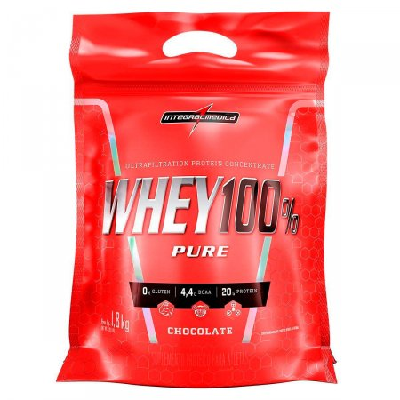Whey Protein 100% Pure Chocolate IntegralMédica Refil - 1,8 Kg