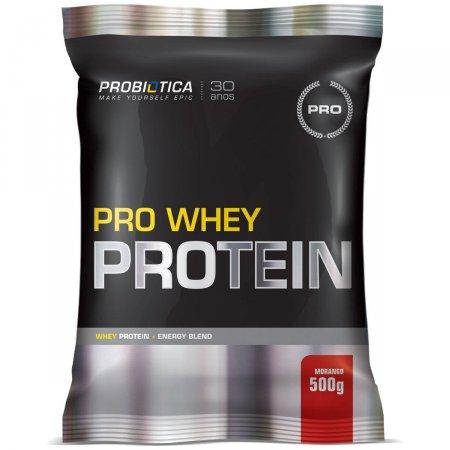 Whey Protein Pro Morango Probiótica Refil - 500g