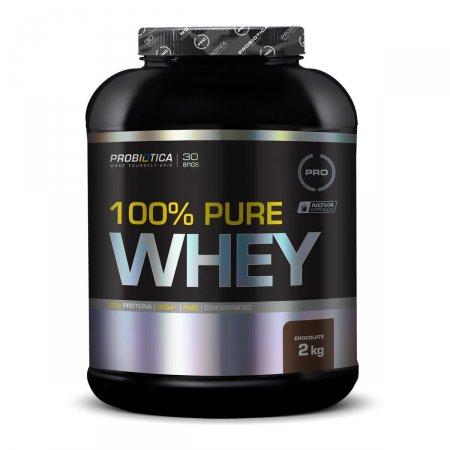 Whey Protein 100% Pure Chocolate Probiótica Pote - 2kg