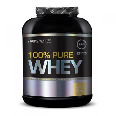 Whey Protein 100% Pure Baunilha Probiótica Pote - 2kg