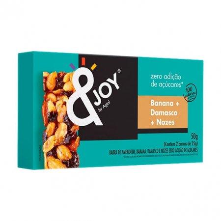 Barra de Nuts Zero Açúcar Banana  Damasco  Nozes 50g - &Joy