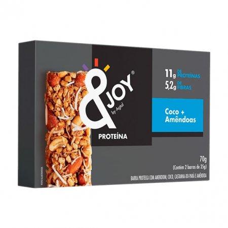 Barra de Nuts Proteína Coco Amêndoas 70g - &Joy