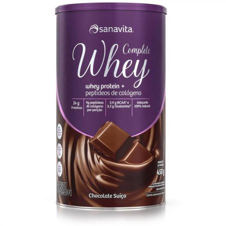Complete whey sabor chocolate suico - 450 gr