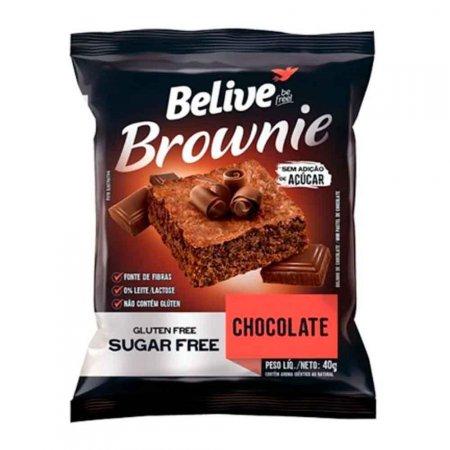 Brownie de Chocolate Zero Açúcar Belive 40g