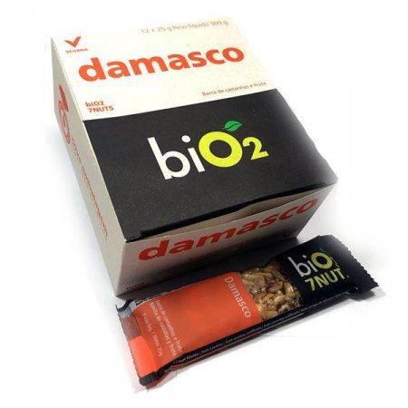 Barra de 7 Castanhas com Damasco Bio2 (Cx c/ 12 un de 25g)