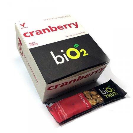 Barra de 7 Castanhas com Cranberry Bio2 (Cx c/ 12 un de 25g)