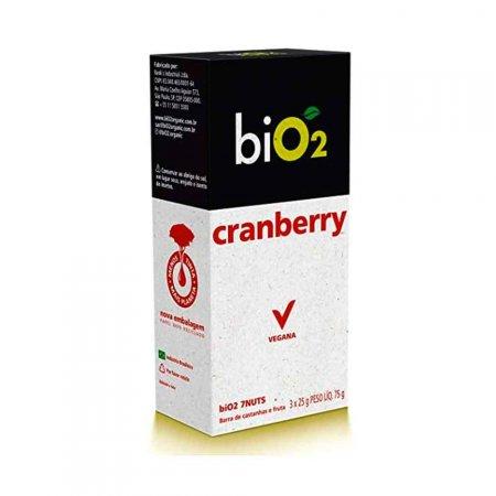 Barra De Castanhas 7Nuts Cranberry Bio2 3 Unidades De 25g