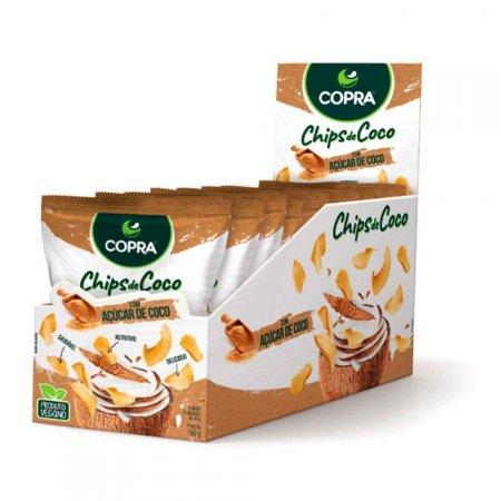 Chips de Coco com Açúcar de Coco Copra CX C/ 8UN DE 20G
