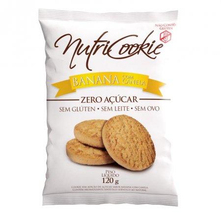 Cookie Banana com Canela Zero Açúcar e Glúten Nutripleno 120g