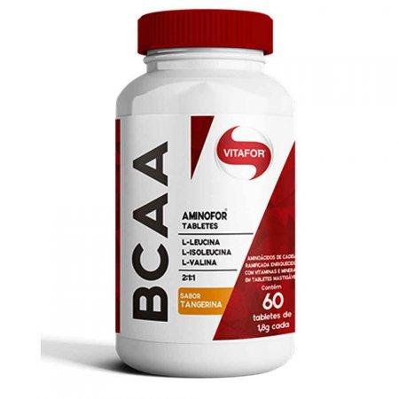 BCAA Aminofor Sabor Tangerina Vitafor 60 Tabletes