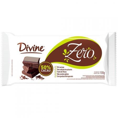 Chocolate meio amargo zero Divine 100g