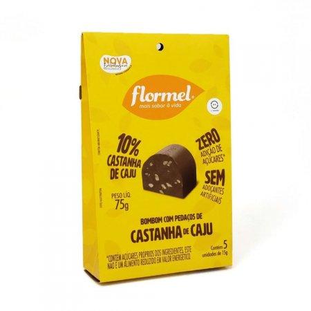 Bombom Castanha de Caju Zero Açúcar 5 unidades Flormel
