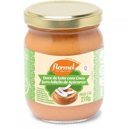 Doce de Leite Cremoso com Coco Zero Açúcar 210g Flormel