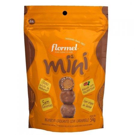 Mini Bombom Crocante com Caramelo Zero Açúcar 54g Flormel