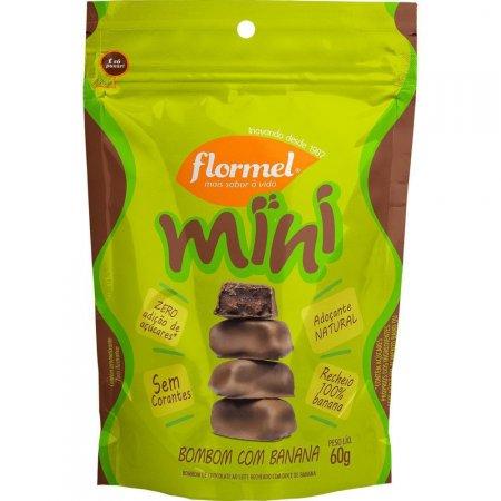 Mini Bombom com Banana Zero Açúcar 60g Flormel