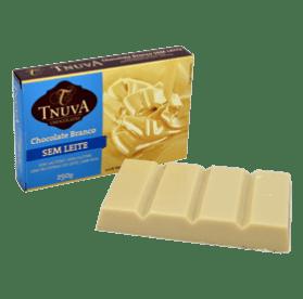 Barra chocolate branco uso culinário Tnuva 250g