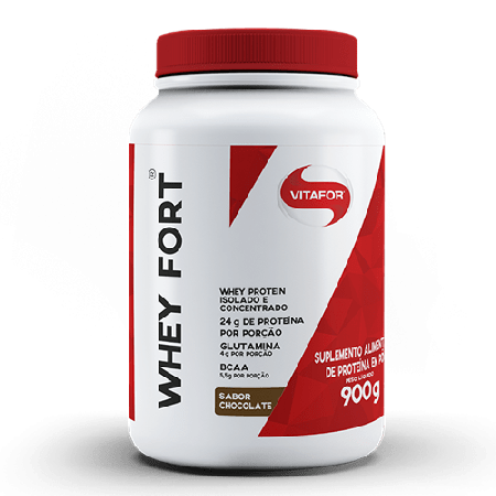 Whey Protein Whey Fort – Chocolate – 900g – Vitafor