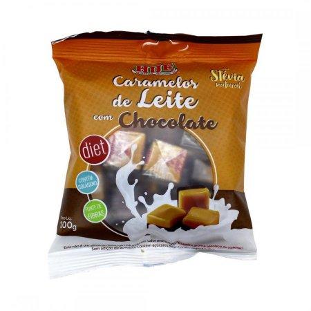 Caramelo Diet de Leite Com Chocolate 100g Hue