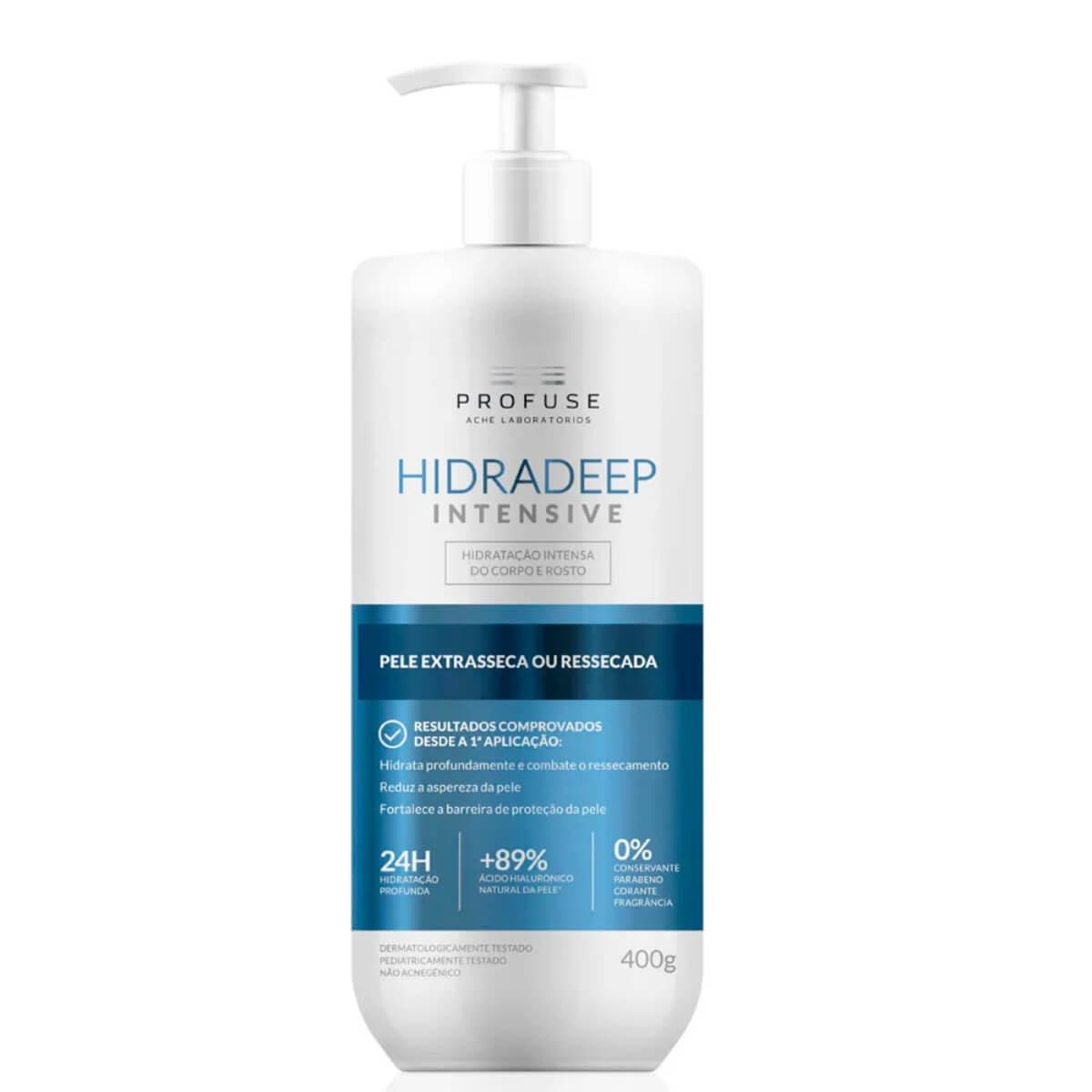 Hidratante para Corpo e Rosto Profuse Hidradeep Intensive Pele Extrasseca ou Ressecada com 400g 400g