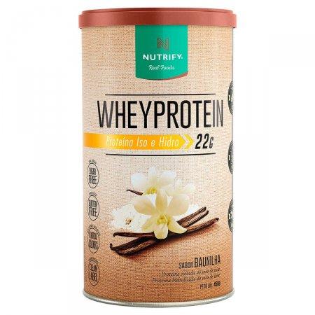 Whey Protein Proteína Isolada e Hidrolisada Nutrify Baunilha com 450g