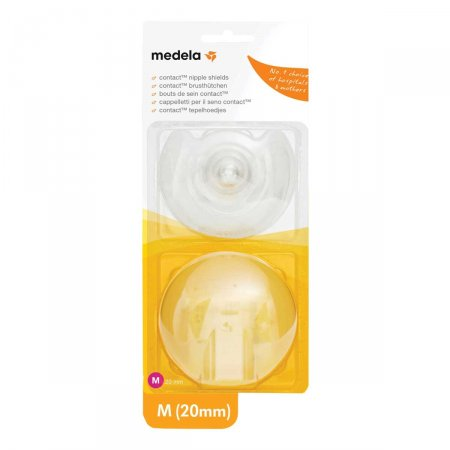 Protetor de Mamilo de Silicone Medela M 20mm 2 Unidades Foto 1
