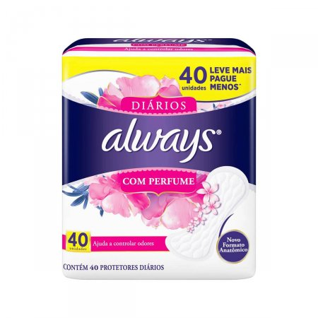 Protetor Diário Always com Perfume 40 Unidades |