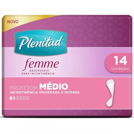Protetor Diário Plenitud Femme Médio com 14 Unidades | Foto 1
