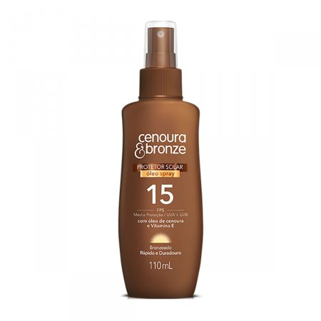 Protetor Solar Óleo Spray Cenoura & Bronze FPS15 110ml